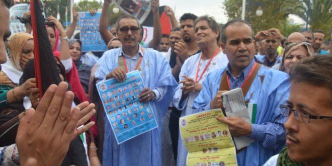 المشاركون في الجامعة الصيفية ينظمون وقفة تضامنية مع المعتقلين السياسيين الصحراويين