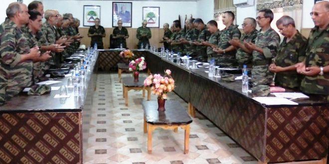 رئيس الجمهورية القائد الأعلى للقوات المسلحة يشرف على اجتماع لأركان جيش التحرير الشعبي الصحراوي