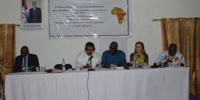 افتتاح الندوة الدولية الأولى لحركات التحرر والأحزاب والقوى الإفريقية
