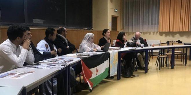 الوفد الصحراوي المشارك في فعاليات المهرجان الدولي للتضامن ينشط محاضرة في جامعة نانسي الفرنسية