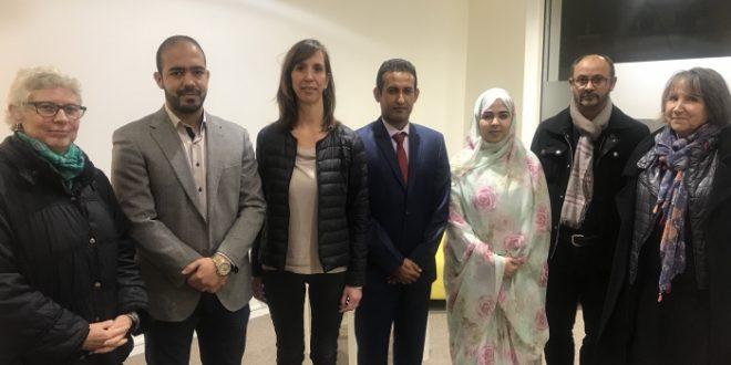 نائبة برلمانية عن الحزب الحاكم الفرنسي تستقبل الوفد الصحراوي المشارك في فعاليات المهرجان الدولي للتضامن