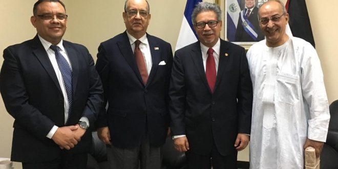 الوزير المنتدب المكلف بأمريكا اللاتينية و الكاريبي يستقبل من قبل وزير خارجية السلفادور