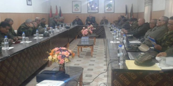 رئيس الجمهورية يترأس اجتماعا لهيئة الأركان العامة لجيش التحرير الشعبي الصحراوي