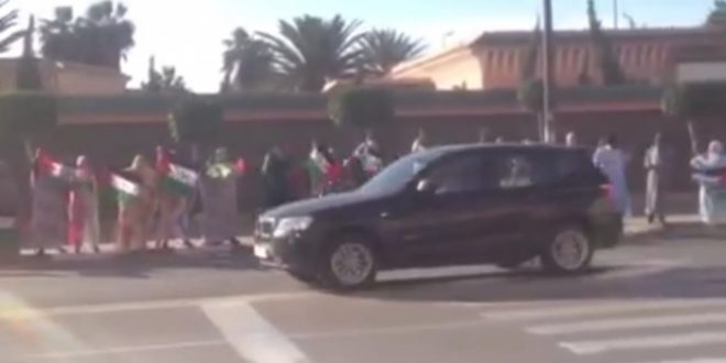 قوات الاحتلال المغربية تتدخل ضد متظاهرين صحراويين بالعاصمة المحتلة العيون