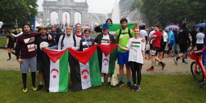 """فريق """"السلام للشعب الصحراوي"""" يشارك بمراطون بروكسيل الدولي"""