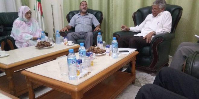 السفير الصحراوي بالجزائر يستقبل ممثلين عن الجمعية الجزائرية لقوافل الخير لرعاية الأرملة واليتيم