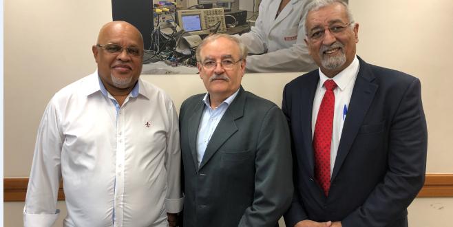 ممثل جبهة البوليساريو بالبرازيل يستقبل من طرف مسؤول العلاقات الخارجية بالمركز الوطني للتعليم الصناعي في ساو باولو