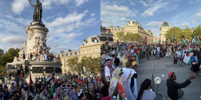 مظاهرة باريس تدعو فرنسا إلى لعب دور إيجابي في حل نزاع آخر مستعمرة في إفريقيا