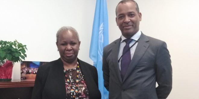 ممثل جبهة البوليساريو بالأمم المتحدة يلتقي مساعدة الأمين العام المكلفة بإفريقيا