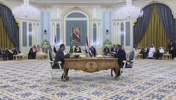 اليمن: التوقيع على إتفاق يؤسس لمرحلة جديدة من التعاون بين الحكومة الشرعية و المجلس الإنتقالي الجنوبي