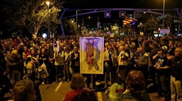 اسبانيا: احتجاجات شعبية في برشلونة ضد زيارة الملك فيليبي السادس للمدينة