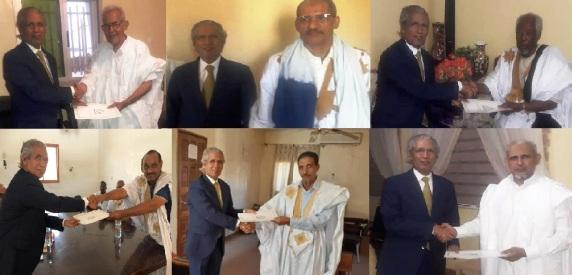 وزير الشؤون الخارجية يلتقى بزعماء أحزاب موريتانية فى إطار العلاقات الثنائية بين جبهة البوليساريو والقوى السياسية فى موريتانيا