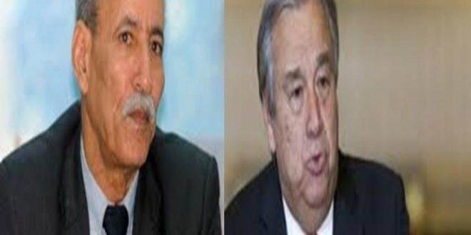 رئيس الجمهورية يلفت انتباه انطونيو غوتيريس الى تقاعس الأمم المتحدة وصمتها إزاء التصعيد والاستفزازات المستمرة من جانب الإحتلال المغربي