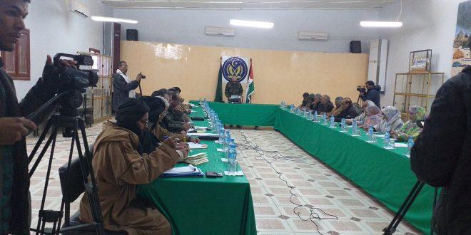 الأمانة الوطنية تتدارس وثيقة برنامج العمل الوطني المصادق عليه من طرف المؤتمر الخامس عشر للجبهة