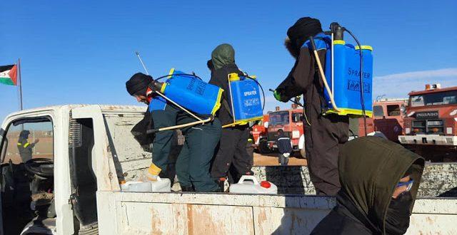 عملية تطهير وتعقيم المؤسسات والمرافق الخدماتية تنطلق بولاية بوجدور