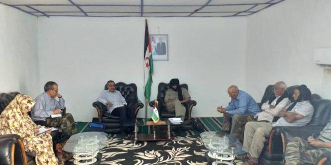 لجنة الرقابة والتفتيش بالأمانة الوطنية في زيارة عمل إلى ولاية الداخلة