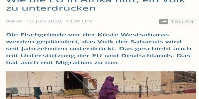 قناة ألمانية تبث تقريرا يثبت تورط الإتحاد الأوروبي بإيعاز من بعض البلدان الأعضاء في إنتهاك القانون الدولي ونهب موارد شعب الصحراء الغربية المحتلة