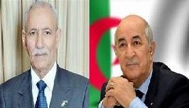 رئيس الجمهورية يهنئ نظيره الجزائري بمناسبة الذكرى الثامنة والخمسين لعيدي الاستقلال والشباب