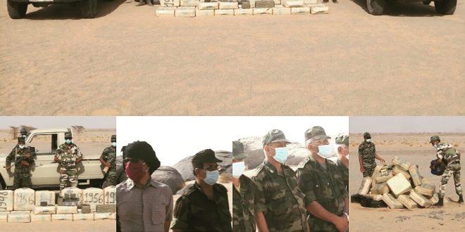 إتلاف كمية من المخدرات مصدرها المغرب تم حجزها مؤخرا بقطاع الناحية العسكرية الأولى بالدوكج