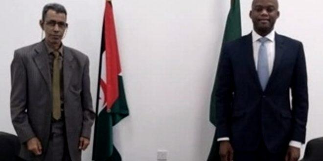 القائم بالأعمال في السفارة الصحراوية في غانا يستقبل من طرف الأمين العام لمنطقة التجارة الحرة الإفريقية