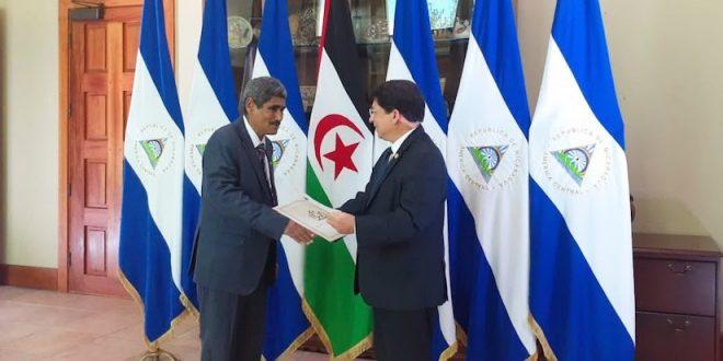 السفير الصحراوي في نيكارغوا يقدم أوراق اعتماده لوزير الخارجية