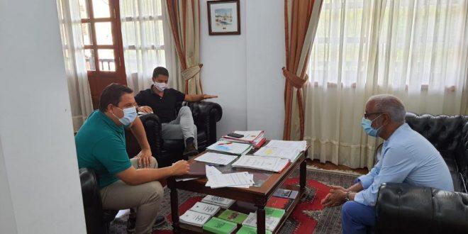 ممثل جبهة البوليساريو بكناريا يستقبل من قبل عمدة بلدية أرونا