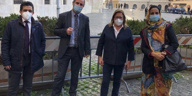 وفد من جبهة البوليساريو يلتقي العديد من مسؤولي القوى السياسية في البرلمان الإيطالي