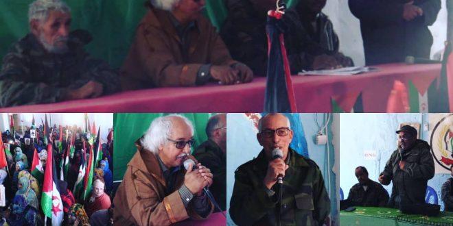 أركان جيش التحرير الشعبي الصحراوي يطلعون جماهير ولاية العيون على أخر التطورات الميدانية ويقفون على درجة الإستعداد للإنضمام الى صفوف الجيش