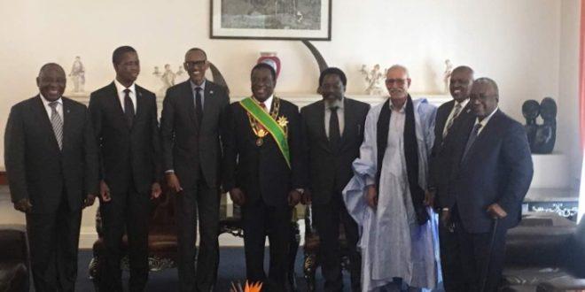 رئيس الجمهورية يهنئ نظيره الزمبابوي ويتمنى لبلده المزيد من التقدم والتنمية والاستقرار