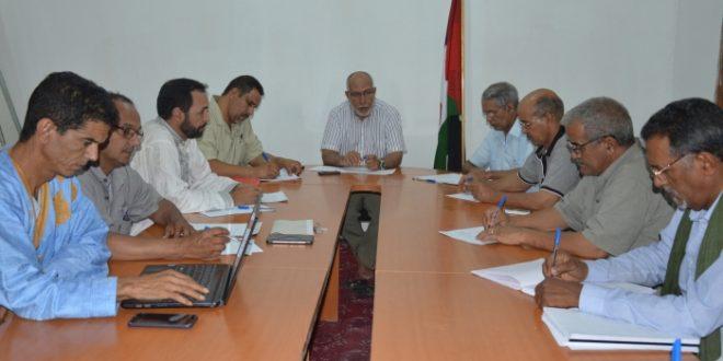 مسؤول امانة التنظيم السياسي يشرف على اجتماع للجنة الوطنية المكلفة بالتحضير لتخليد الذكرى43 للوحدة الوطنية