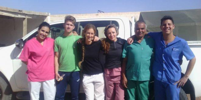 بعثة طبية اسبانية بالأراضي المحررة