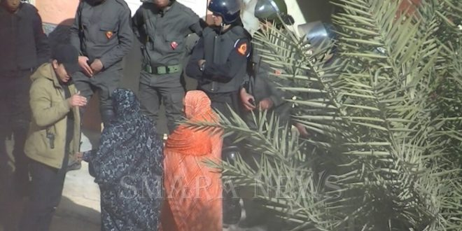 قوات الاحتلال المغربي تتدخل ضد متظاهرين صحراويين وتعتقل ناشطا اعلاميا بالعاصمة المحتلة