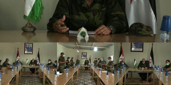 الرئيس ابراهيم غالي يترأس اجتماعا لهيئة الأركان العامة لجيش التحرير الشعبي الصحراوي