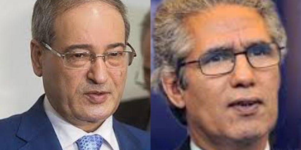 وزير الشؤون الخارجية يبعث برسالة تهنئة الى نظيره السوري فيضل المغداد.