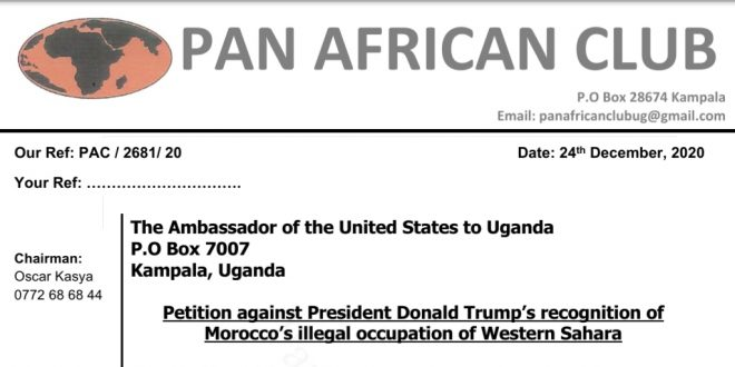 منظمة منتدى عموم أفريقيا تستنكر بشدة قرار الرئيس الأمريكي بخصوص الصحراء الغربية