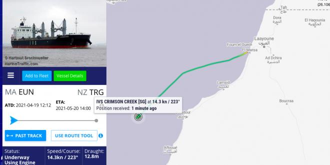 جمعية مراقبة الثروات وحماية البيئة بالصحراء الغربية تندد بتورط سفن أجنبية في نهب الفوسفات الصحراوي