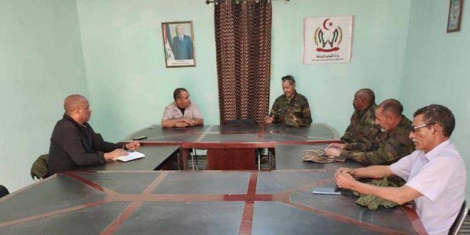 وزارة الشباب والرياضة تعقد اجتماعا مع المحافظة السياسية لجيش التحرير الشعبي الصحراوي