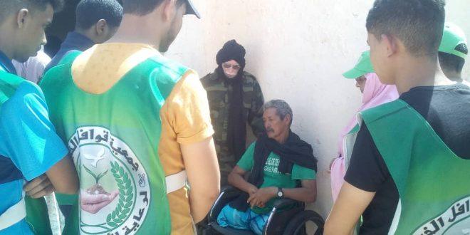 جمعية قوافل الخير لرعاية الأرملة واليتيم الجزائرية تزور مركز الشهيد الشريف لضحايا الحرب والألغام