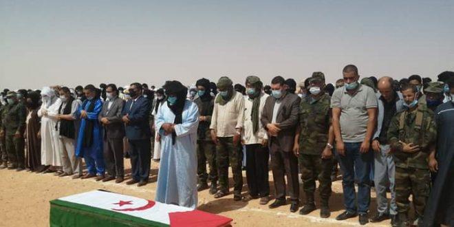 جثمان الشهيد عبد الله لحبيب يوارى الثرى بمقبرة السمارة في جو جنائزي مهيب